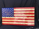 Fire and Rescue Rustic Wood American Flag